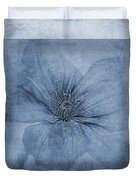 Clematis Cyanotype Duvet Cover