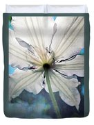 Clematis In Morning Sun Duvet Cover