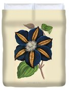 Clematis Star Of India Duvet Cover