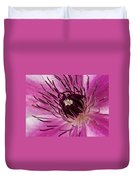 Clematis Up Close Duvet Cover