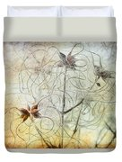 Clematis Virginiana Seed Head Textures Duvet Cover