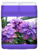 Clematis Vyvyan Pennell Duvet Cover