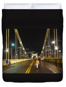Clemente Bridge Stragglers Duvet Cover