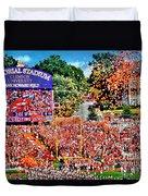Clemson Tigers Memorial Stadium II Duvet Cover
