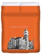 Clemson University - Coral Duvet Cover