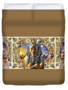 Cleo Tut Neffi Triptych Duvet Cover by Andrew Farley