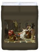 Cleopatra And Octavian Duvet Cover