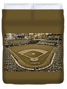 Cleveland Baseball In Sepia Duvet Cover