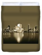 Cleveland In Sepia Duvet Cover
