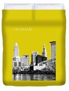 Cleveland Skyline 3 - Mustard Duvet Cover