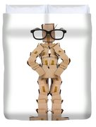 Clever Box Character Wearing Glasses Duvet Cover