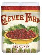 Clever Farms Beans Duvet Cover