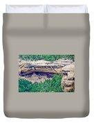 Cliff Palace From Chapin Mesa Top Loop Road In Mesa Verde National Park-colorado  Duvet Cover