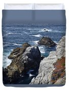 Cliffs And Coastline At California's Point Lobos State Natural Reserve Duvet Cover by Bruce Gourley