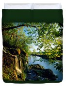Cliffs And Trees Along Malanaphy Duvet Cover