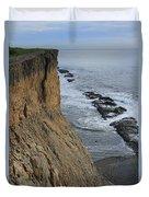 D3a6138-cliffs At Bolinas  Duvet Cover