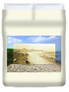 Cliffs At The Town Landing In Little Compton Ri Duvet Cover