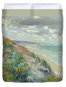 Cliffs By The Sea At Trouville  Duvet Cover by Gustave Caillebotte