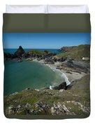 Cliffs In Bretagne Duvet Cover