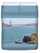 Cliffs Near Golden Gate Bridge Duvet Cover