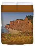 Cliffs Of Cape D'or From A Promontory Over Advocate Bay-ns Duvet Cover