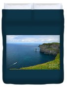 Cliffs Of Moher Looking North Duvet Cover