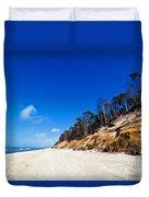 Cliffs On A Sunny Beach Duvet Cover