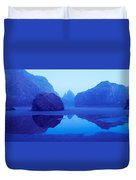 Cliffs On The Coast At Dawn, Meyers Duvet Cover