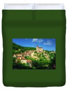 Cliffside Village Duvet Cover