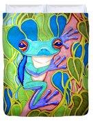 Climbing Tree Frog Duvet Cover