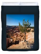 Clinging To The Edge Bryce Canyon Duvet Cover