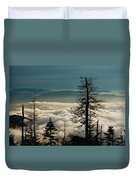 Clingman's Dome Sea Of Clouds - Smoky Mountains Duvet Cover