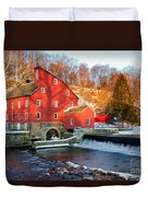 Clinton Mill In Winter Duvet Cover