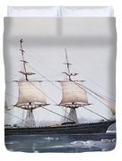 Clipper Ship Red Jacket In The Ice Off Cape Horn On Her Passage From Australia To Liverpool Duvet Cover