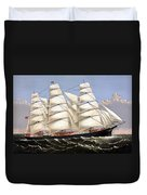 Clipper Ship Three Brothers Duvet Cover