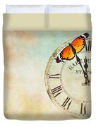 Clock Five To Twelve Duvet Cover