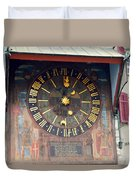 Clock Tower In Solothurn Duvet Cover