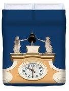 Clock Tower In Bardolino Duvet Cover