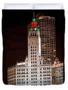 Clock Tower In Chicago  Duvet Cover