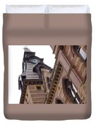 Clock Tower In New Haven Connecticut Duvet Cover