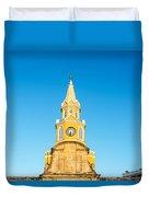 Clock Tower Of Cartagena Duvet Cover
