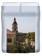 Clock Tower - Rhodos City - Roloi Duvet Cover