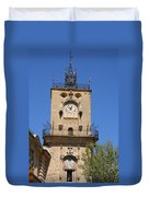 Clocktower - Aix En Provence Duvet Cover