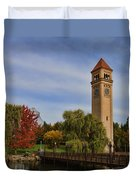 Clocktower Fall Colors Duvet Cover