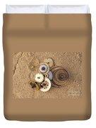 Clockwork Mechanism On The Sand Duvet Cover