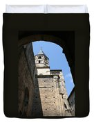 Cloister Cluny Church Steeple Duvet Cover
