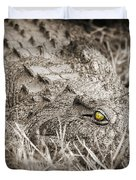 Close Crocodile  Duvet Cover
