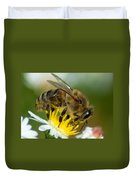 Close Encounter Of The Bee Kind Duvet Cover