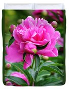 Close Up Flower Blooming Duvet Cover