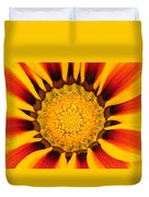 Close Up Marigold Duvet Cover